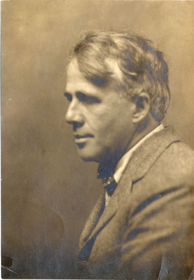 Robert Frost, looking much the poet