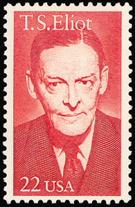 T.S. eliot was honored with a 22-cent U.S. postage stamp
