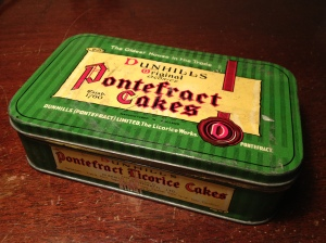 Pontefract licorice cakes tin