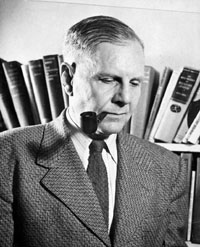 John Crowe Ransom, original member of the Fugitives, a group of writers and poets from the South