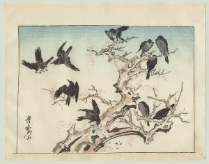 Japanese Woodblock Print by Kyosai (1831-1889)