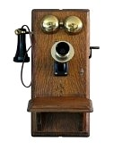 """The call came over the telephone mounted on the farmhouse wall."""