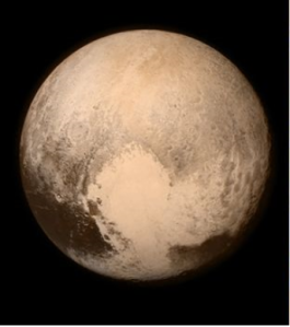 The face of Pluto on Pluto