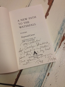 Found note in Raymond Carver's last book of poems.