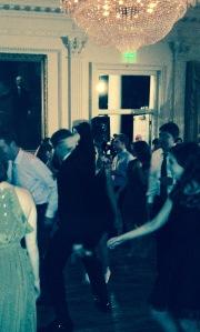 Southern wedding, young men dancing