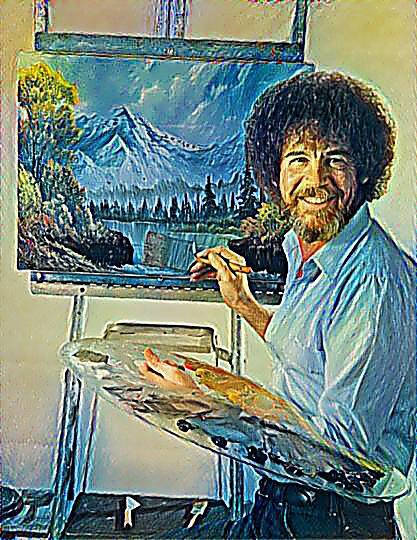 Bob Ross taught painting on television for years and years.
