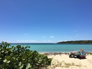 Blue Beach on Vieques, Puerto Rico