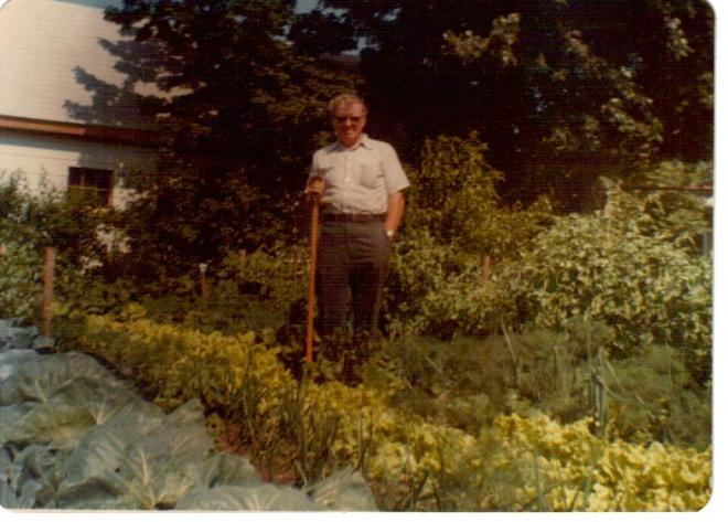 Raymond Ball outstanding in his garden
