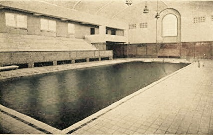 Vintage college swimming pool