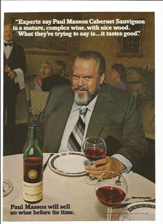 Orson Welles, fat and famous wine spokesman