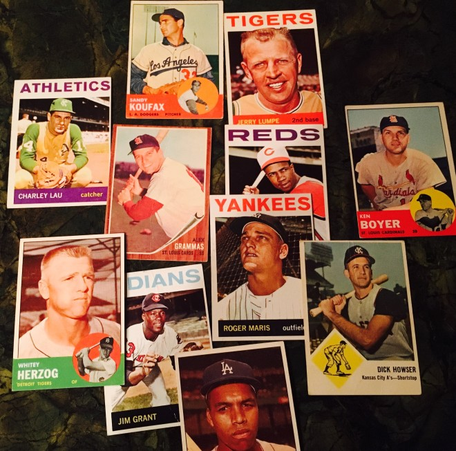 Baseball cards from the early 1960s