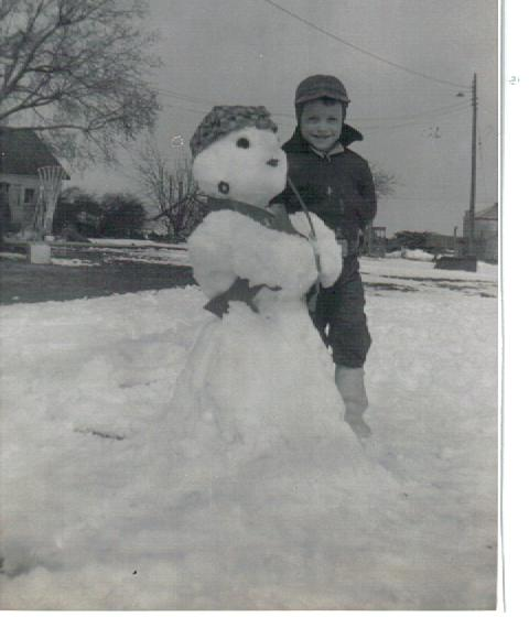 Me with a snow-woman
