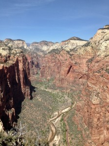 Zion National Park as seen from Angel's Landing