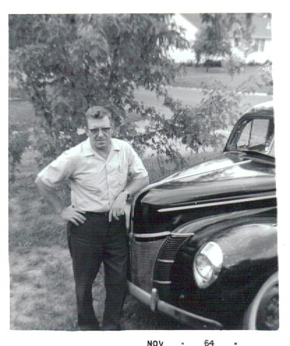 Raymond Ball with a 1940 Ford