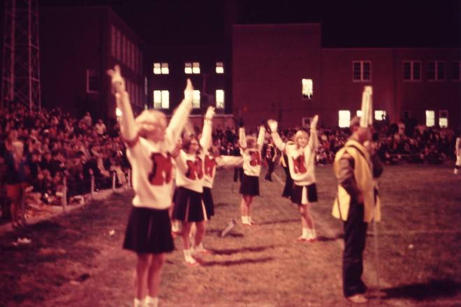 Marshall High School cheerleaders, 1968.