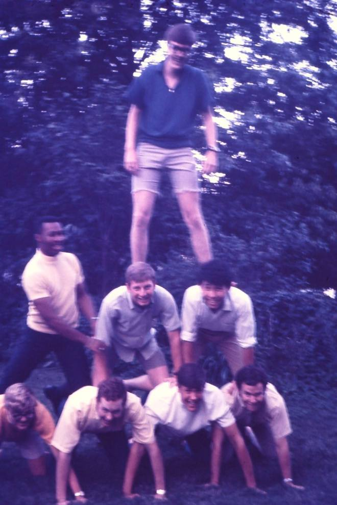 The 1969 M senior guys and their pyramid scheme