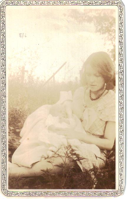 My mom as a young mother