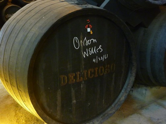 Wine barrel signed by Orson Welles